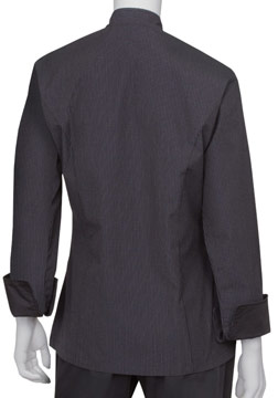 Pinstripe Women's Chef Coat Back Image