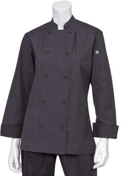 Pinstripe Women's Chef Jacket