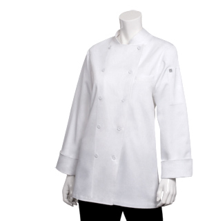 Women's White Professional Chef Jacket