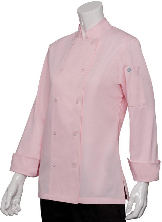 PINK Women's Chef Jacket, Pink Chef Jacket for Women