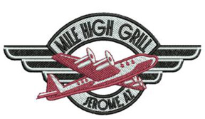 Mile High Grill Logo Embroidery