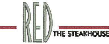 Red The Steakhouse Logo Embroidery