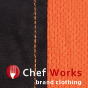 Orange and Black Waiter Uniform Shirt Panel Detail